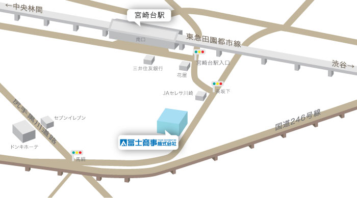 冨士商事へのアクセス